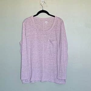 Old Navy pink boyfriend knit tee size large